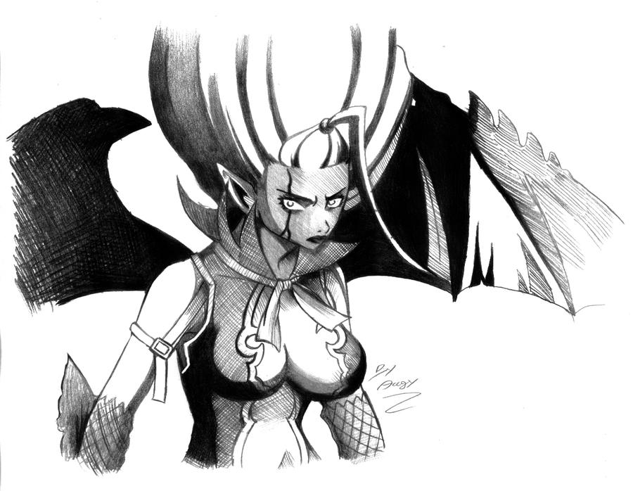 Fairy tail mirajane demon by angy89 on deviantart - Dessin de demon ...
