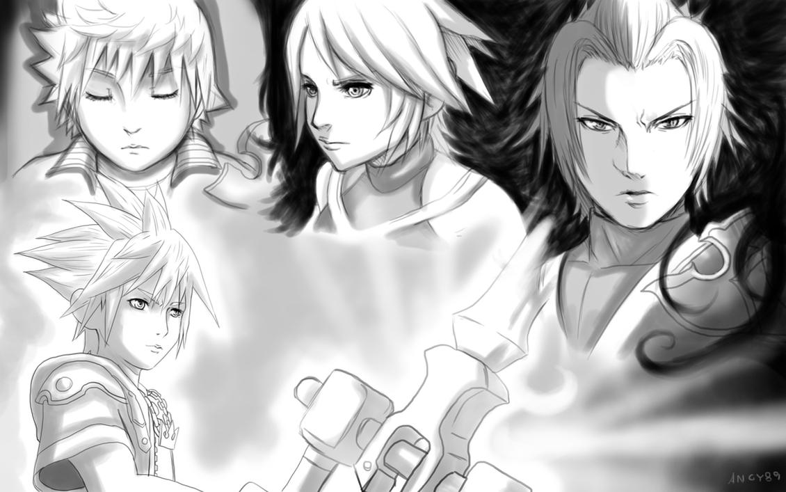 Sora Kingdom Hearts Lineart : Sora and riku kingdom hearts amino