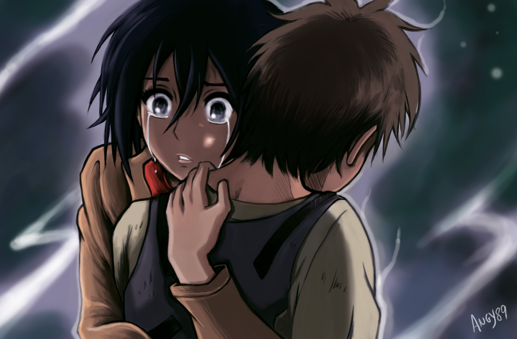 Mikasa x eren color by angy89 on deviantart - Eren and mikasa wallpaper ...