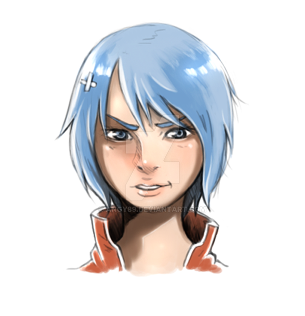 Blue Hair by Angy89