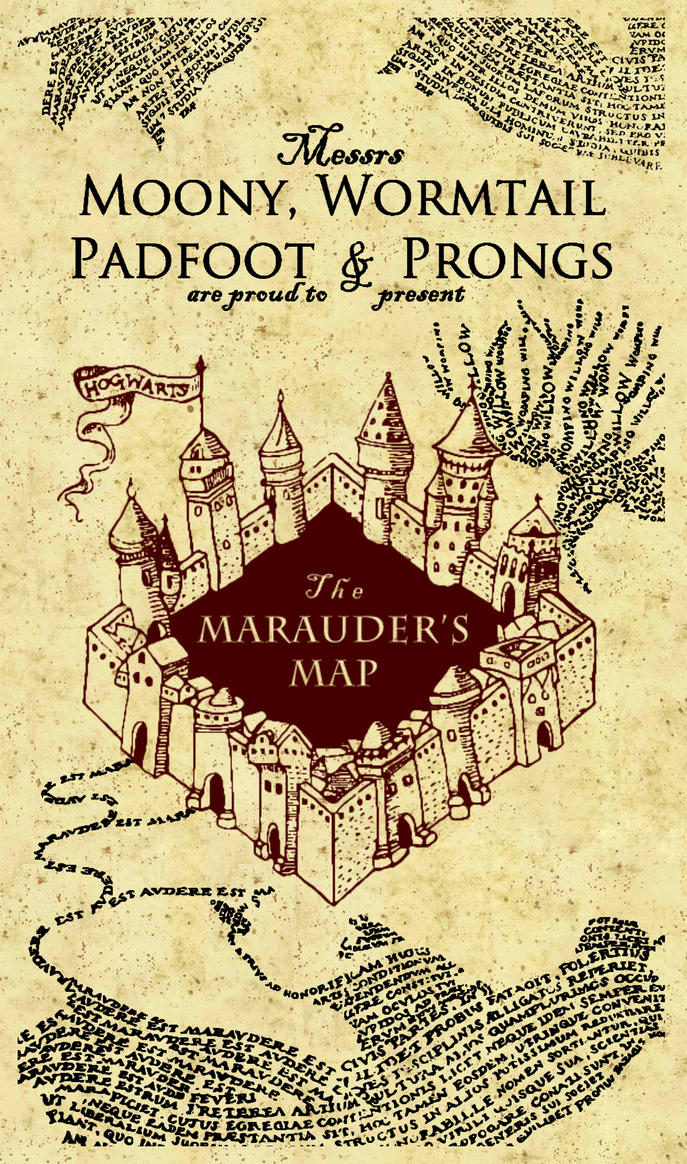 This is a picture of Ridiculous Marauders Map Printable
