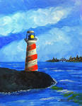 Lighthouse Cityscape Background