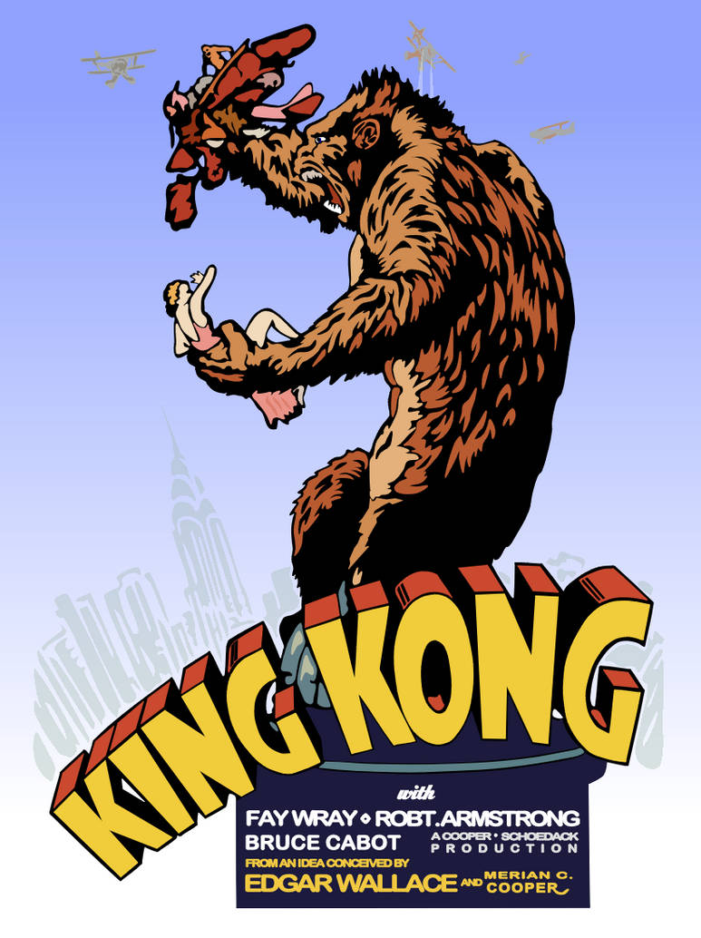 King Kong 1933 Movie Poster Reboot By Peimar On Deviantart