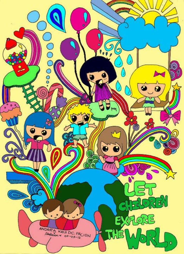 doodle: LET CHILDREN EXPLORE THE WORLD by andreakris