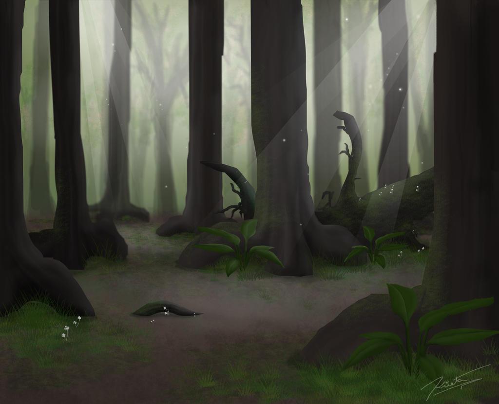Summer Forest Background By Labinnak On Deviantart