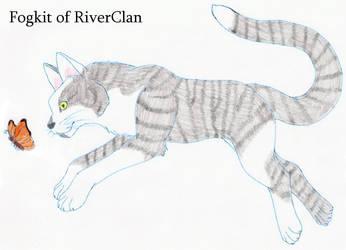 Fogkit of RiverClan by Seri-goyle