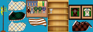 Updated trophy room March 2013 by Seri-goyle