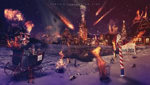 Santa's village on fire