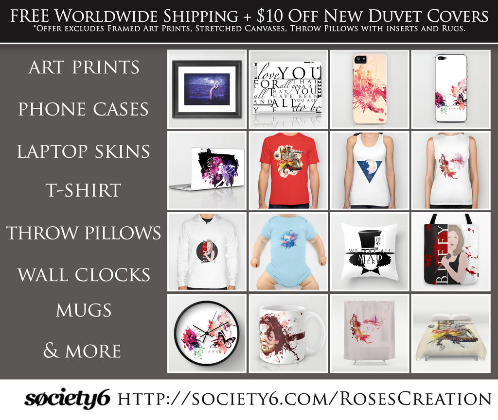 Society6 stuff promo free worldwide shipping by for Websites similar to society6