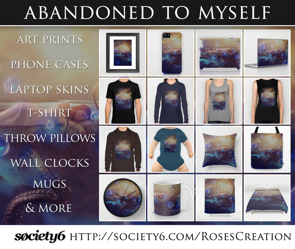 Abandoned to myself society6 stuff by dreamswoman for Websites similar to society6