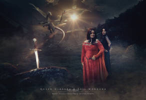 Queen Ginevra and Evil Morgana by dreamswoman