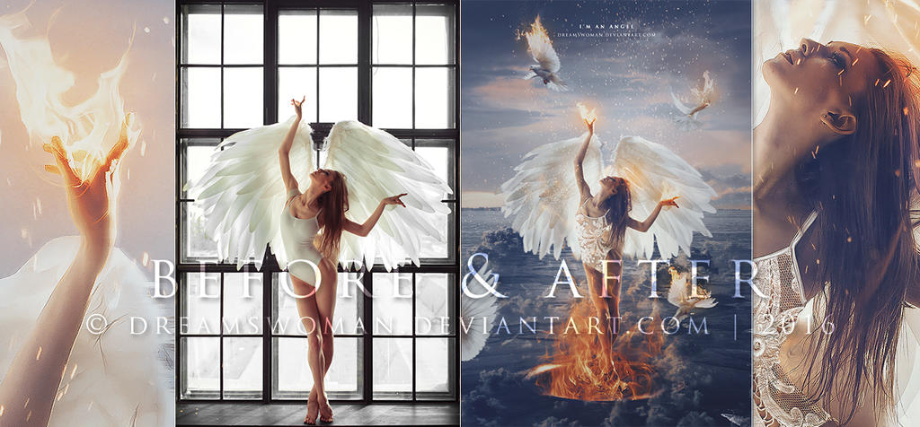 I'm an angel - Before and After by dreamswoman
