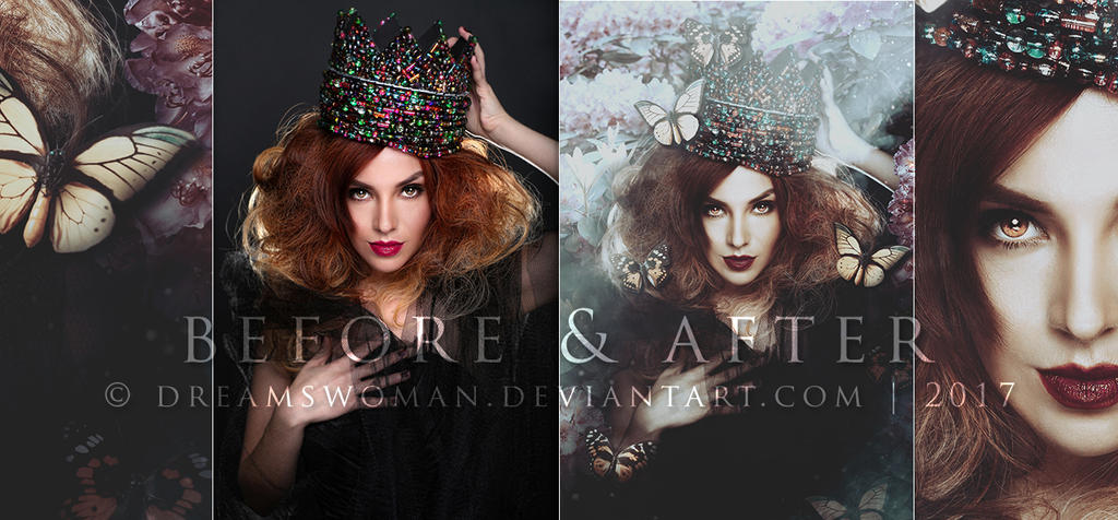 Mariposa - Before and After by dreamswoman