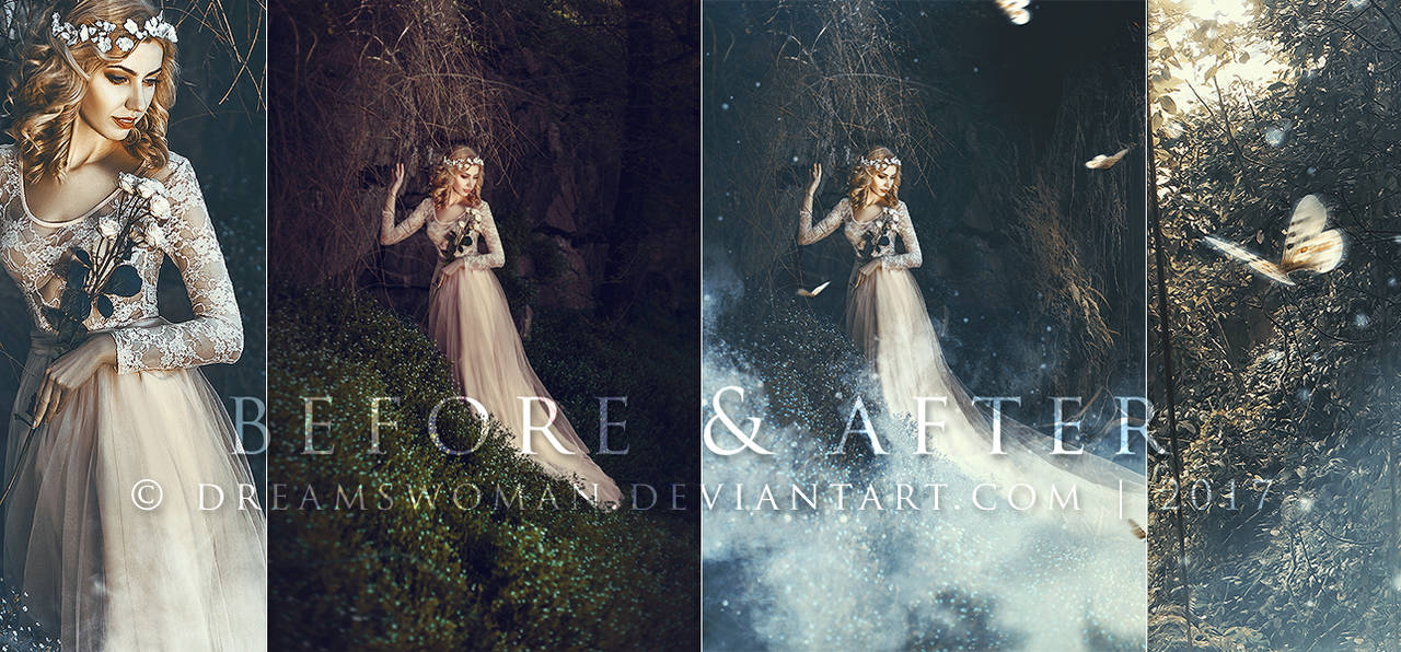 The Secret Forest - Before and After by dreamswoman