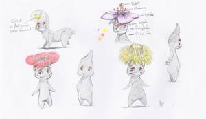 Les Globulbes - sketches 01 by Schoyhan