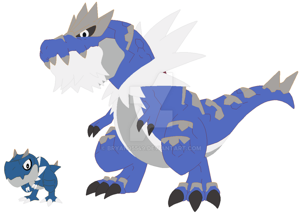 shiny_tyrunt_and_shiny_tyrantrum_by_brya