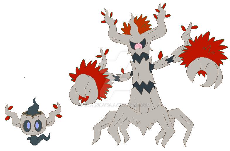 Phantump And Trevenant Pokemon Images | Pokemon Images