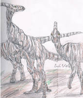 Zebra-saurolophus by Lord-Triceratops