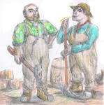 Dwarven Railworkers