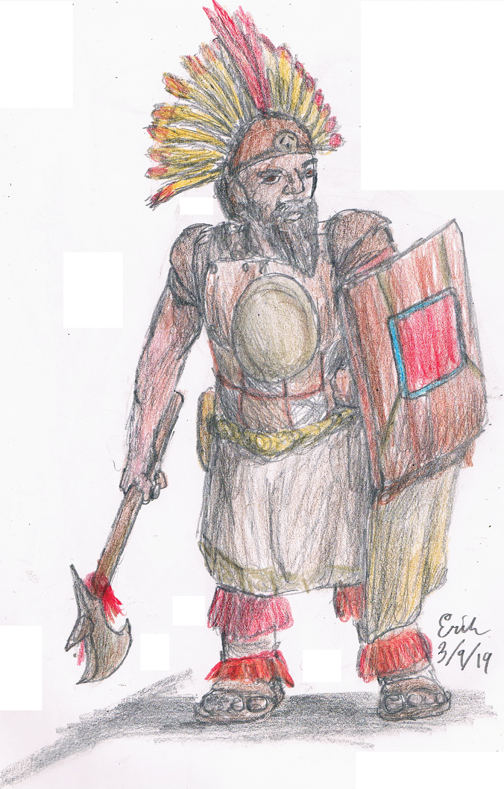 Incan Dwarf Warrior