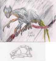 Epidexipteryx hui as Aye Aye