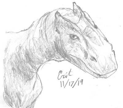 Allosaurus fragilis Dinovember2019