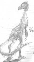 Ornitholestes silhouette