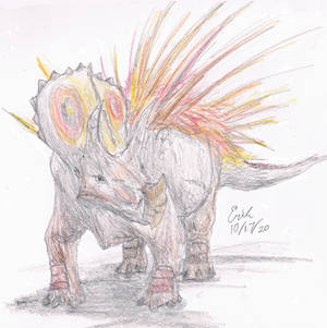 Triceratops with Autumn Colors