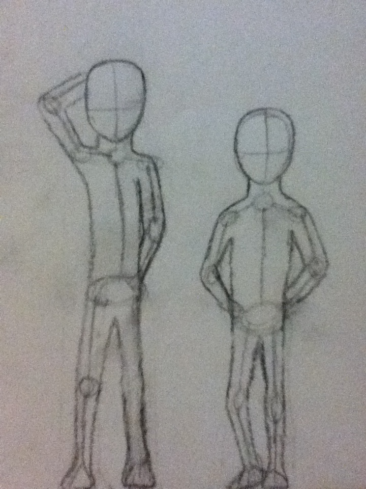 Base Drawing - Hand Behind Head + Arms Behind Back By RememberToBeAwesome On DeviantArt