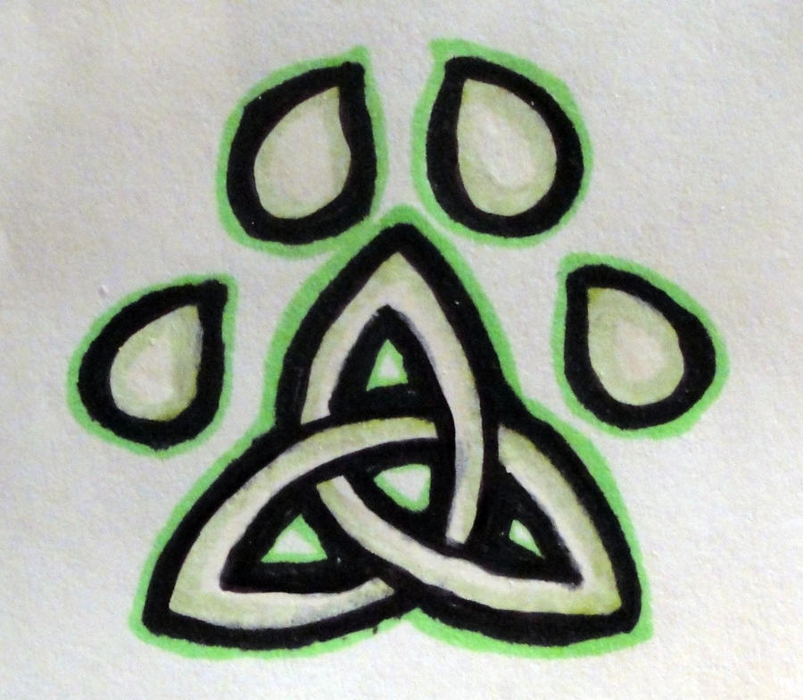 Celtic Pawprint Tattoo by WYNTERFANG on DeviantArt