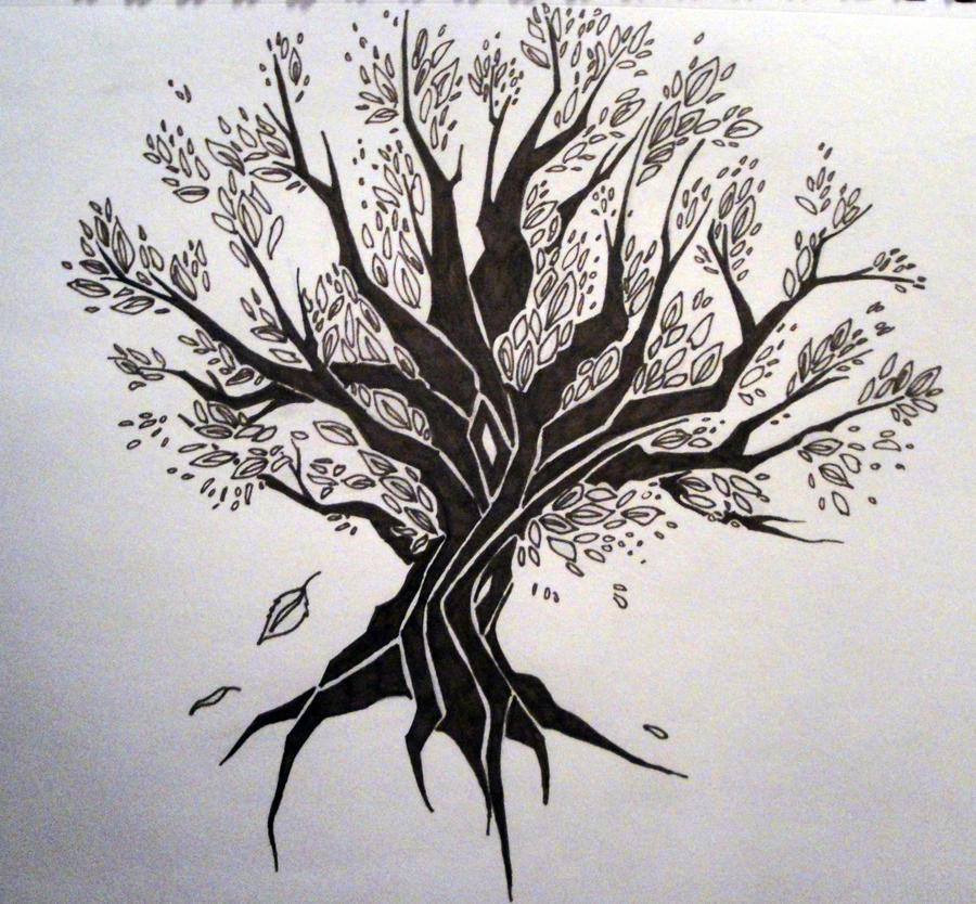 tribal tree by wynterfang on deviantart rh wynterfang deviantart com tribal tree tattoo meaning tribal tree tattoos