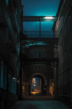 Alleyway with Artificial Moonlight _ Memphis