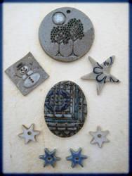 Winter jewelry by Osa-Art-Farm