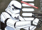 Stormtrooper Sketch Card by lupesoto