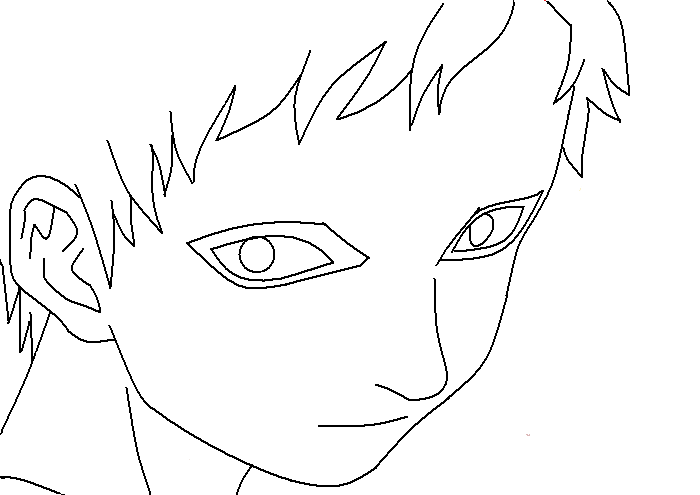 Drawing Lines With Pixels : Gaara lineart pixel by pheoniix kisses on deviantart