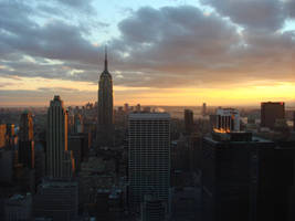 skyline sunset by Designdivala