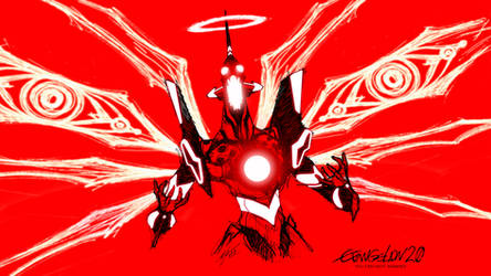 Evangelion Unit 01 crazy red 2 by Epsthian-Artist