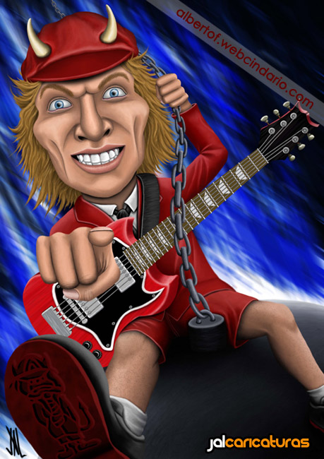 Angus Young (AC/DC) by Jalpal