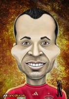 Andres Iniesta by Jalpal