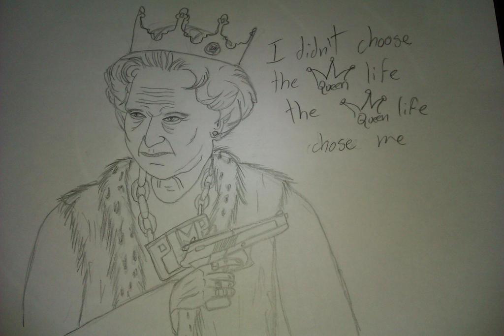 Queen Elizabeth 2 Doodle by DrSabir