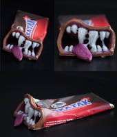 Anthropomorphic Snakatak Candy Bar Sculpt by spulunk