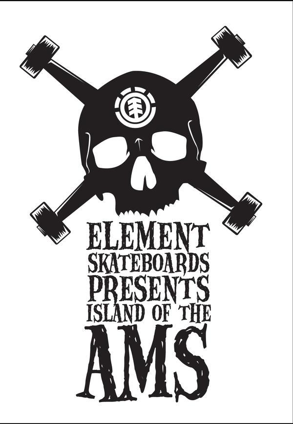 Skateboard logos element
