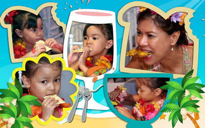 leona:happy eating
