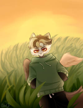 cute frowns in the field