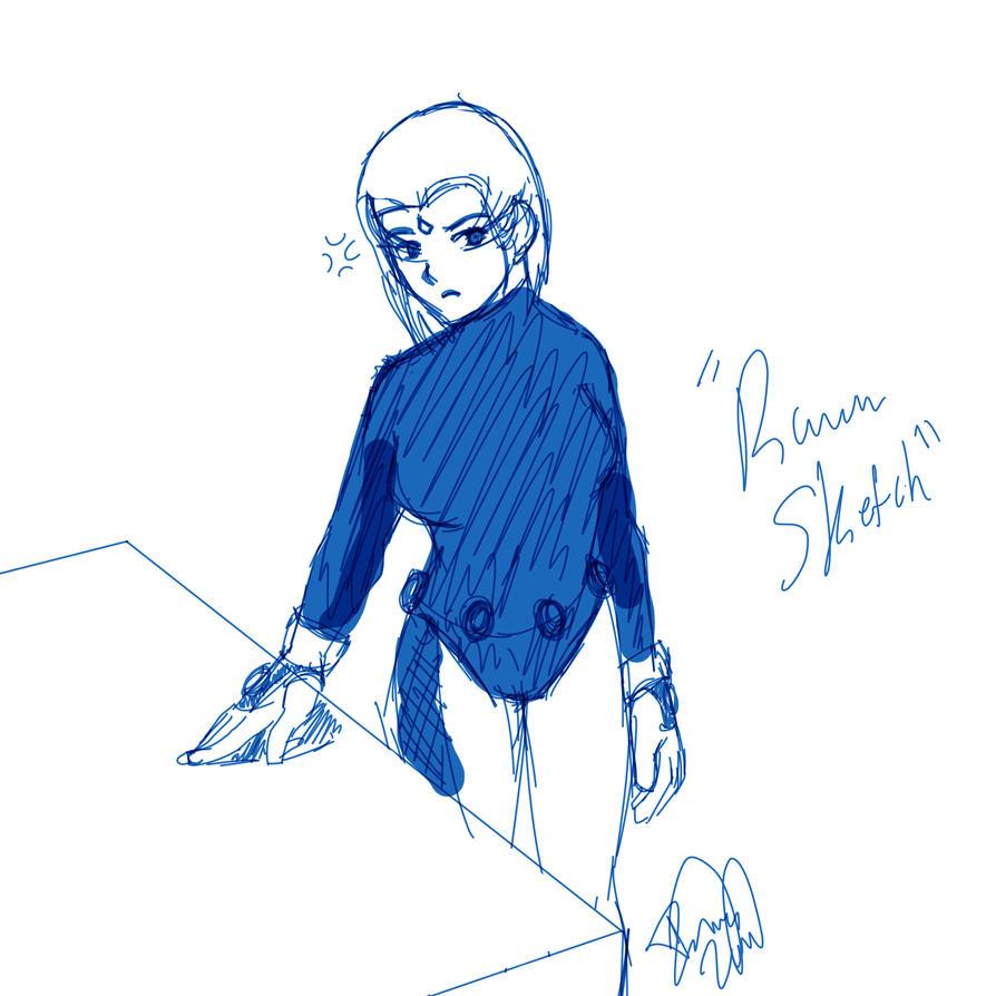 Raven Sketch 1 by Imccutie1999
