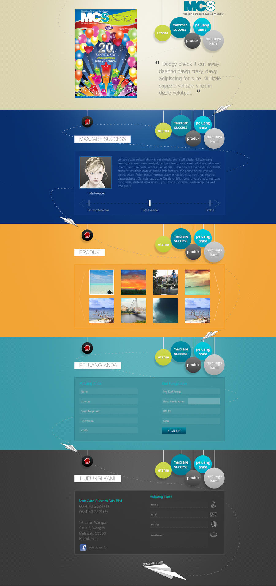 One Page Website by trigger-evo on DeviantArt