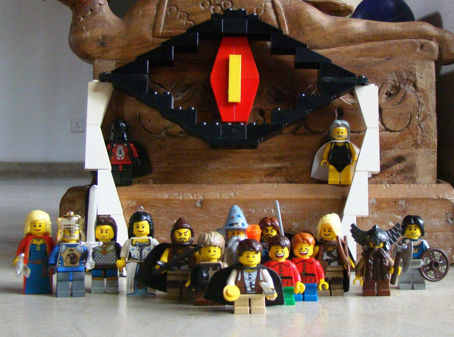 Lego The Lord of The Rings Logo Lord of The Rings Lego Cast by