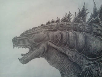 GODZILLA (2014) FINISHED DRAWING by Kongzilla2010