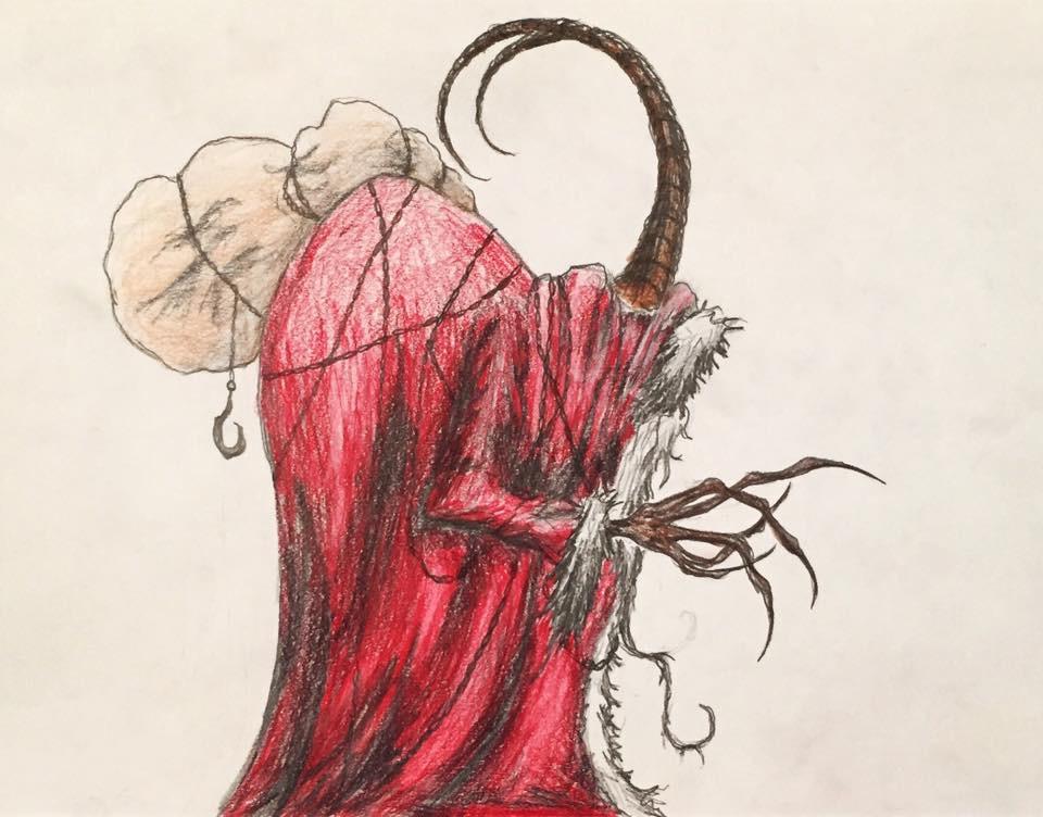 Krampus Drawing by Kongzilla2010