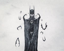 A Burtonesque Batman. by Kongzilla2010